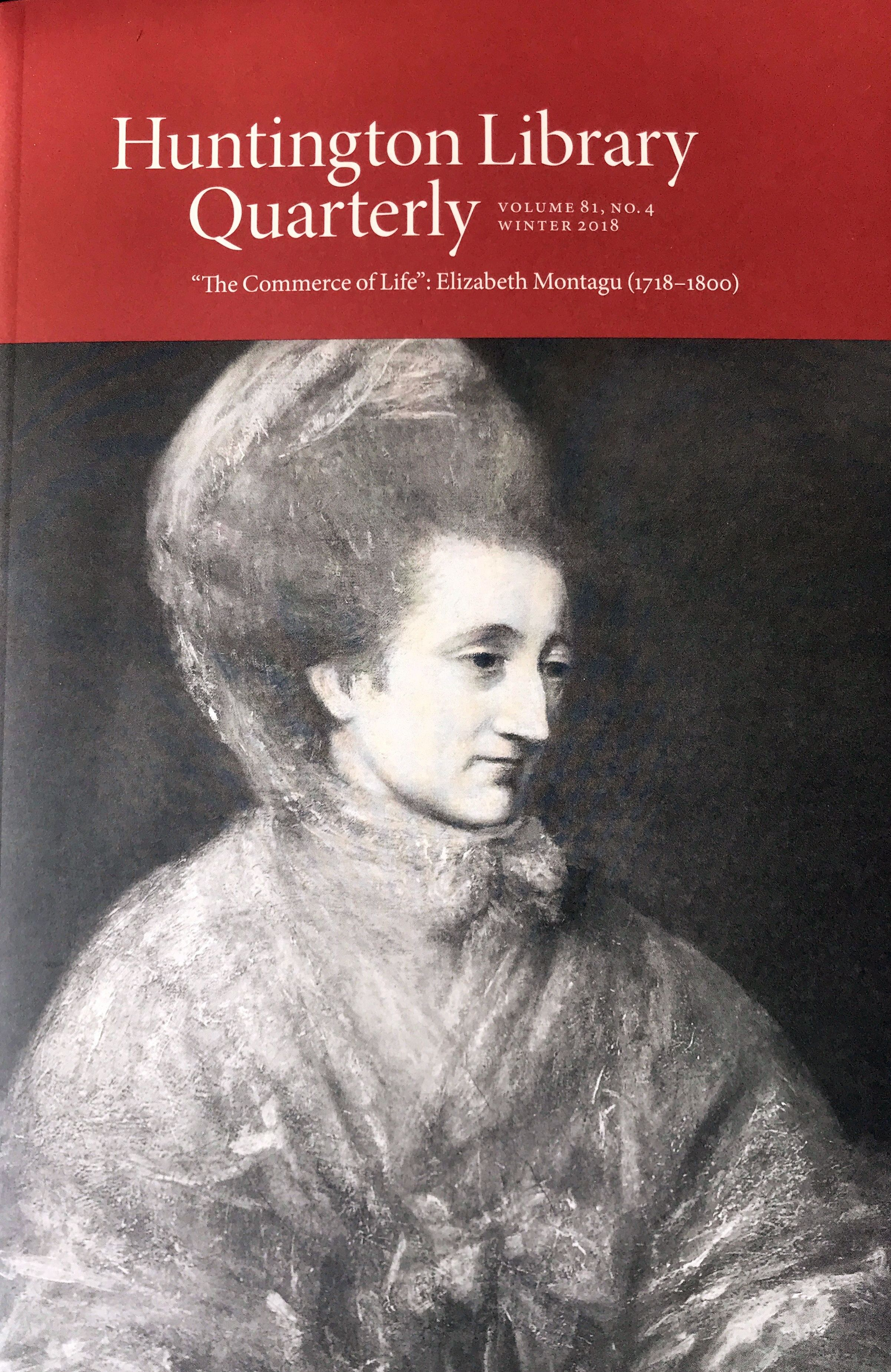 The Commerce of Life: Elizabeth Montagu (1718-1800)